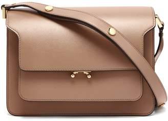 Marni Trunk medium saffiano-leather shoulder bag