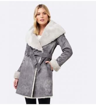 Ever New Maeve Capelet Shearling Fur Coat