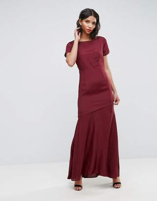 Asos DESIGN Cut Out Back Maxi Dress with Seam Detail