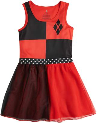 Girls 4-12 DC Comics Harley Quinn Derby Knee-Length Dorm Nightgown