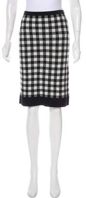 Derek Lam Knee-Length Gingham Skirt