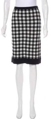 Derek Lam Knee-Length Gingham Skirt