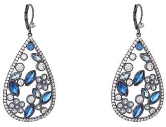 Nina Open Teardrop Cluster Earrings
