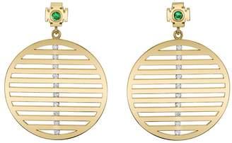Ark Emerald and Diamond Nine Strings Earrings