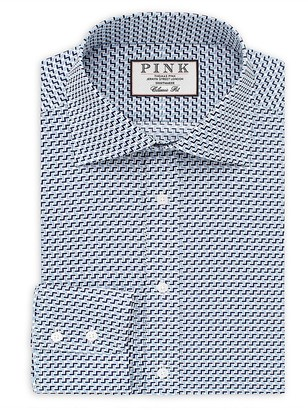 Thomas Pink Benbrick Print Classic Fit Dress Shirt - Bloomingdale's Classic Fit $195 thestylecure.com