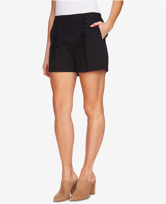 1 STATE 1.state High-Waist Lace-Up Shorts