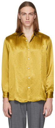 Goodfight Yellow Satin Proper Shirt