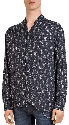 The Kooples Late Night Skull Button-Down Shirt