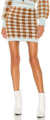 For Love & Lemons Cher Houndstooth Mini Skirt