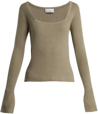 Raey Square-neck ribbed cashmere sweater