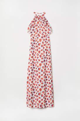 H&M Long Halterneck Dress - Beige