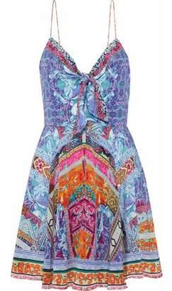 Camilla Crystal-Embellished Silk Crepe De Chine Mini Dress