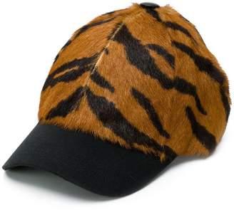 Simonetta Ravizza Furrissima tiger print baseball cap