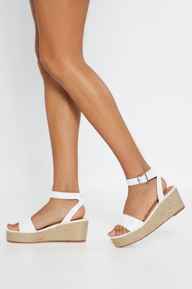 0ae4283c1c07 Nasty Gal Espadrille There Be Sun Wedge Sandals