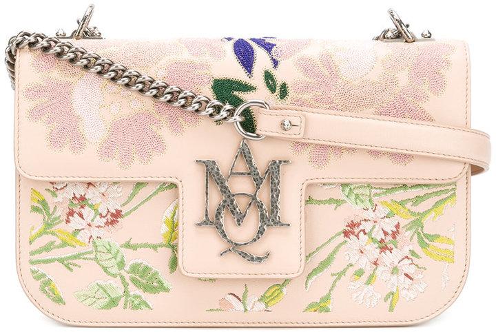 Alexander McQueenAlexander McQueen Insignia embroidered satchel