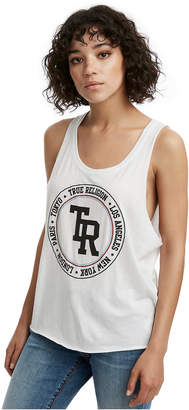 True Religion WOMENS LOGO DEEP CUT TANK