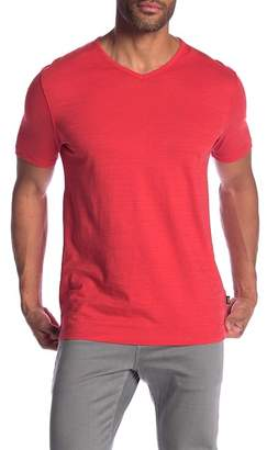 BOSS Slub Knit V-Neck Tee
