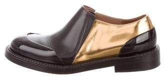 Marni Metallic-Trimmed Round-Toe Loafers