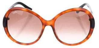 Tod's Tortoiseshell Round Sunglasses