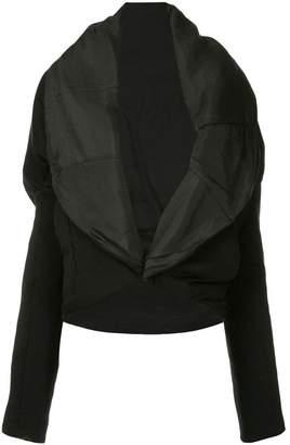 Masnada oversized lapel jacket