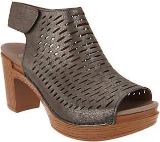 Dansko Perforated Leather Heeled Sandals -Danae