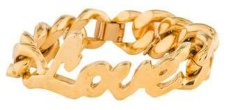 Stella McCartney Love Chain Bracelet