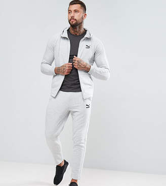 Puma Skinny Fit Tracksuit Set In Grey Exclusive To Asos