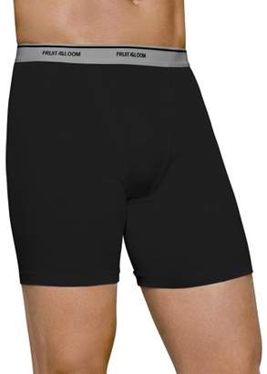 Fruit of the Loom Big Men's Dual Defense Fashion Print/Solid Boxer Briefs, 4 Pack