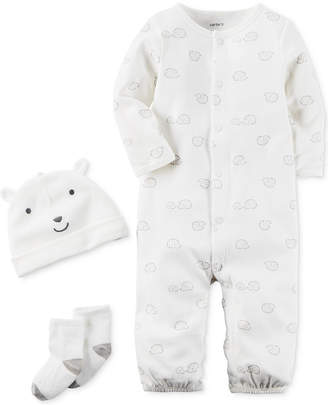 Carter's 3-Pc. Cotton Hat, Hedgehog-Print Coverall & Socks Set, Baby Boys & Girls (0-24 months) $12.98 thestylecure.com