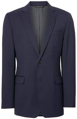Banana Republic Standard Solid Italian Wool Suit Jacket
