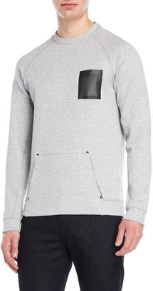 Karl Lagerfeld Paris Mesh Pocket Sweatshirt