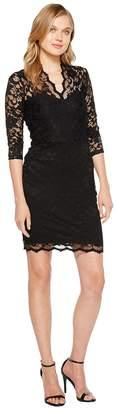 Karen Kane V-Neck Scallop Lace Dress Women's Dress