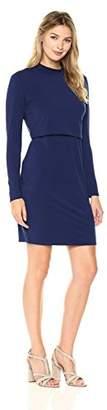 Tiana B Women's Jersey Mock Neck Dress