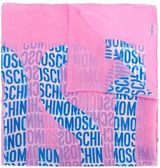 Moschino all-over logo scarf