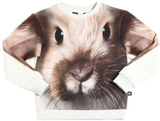 Molo Rabbit Printed Cotton Sweatshirt