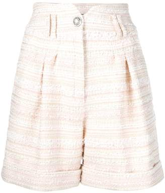 Balmain high waist tweed shorts