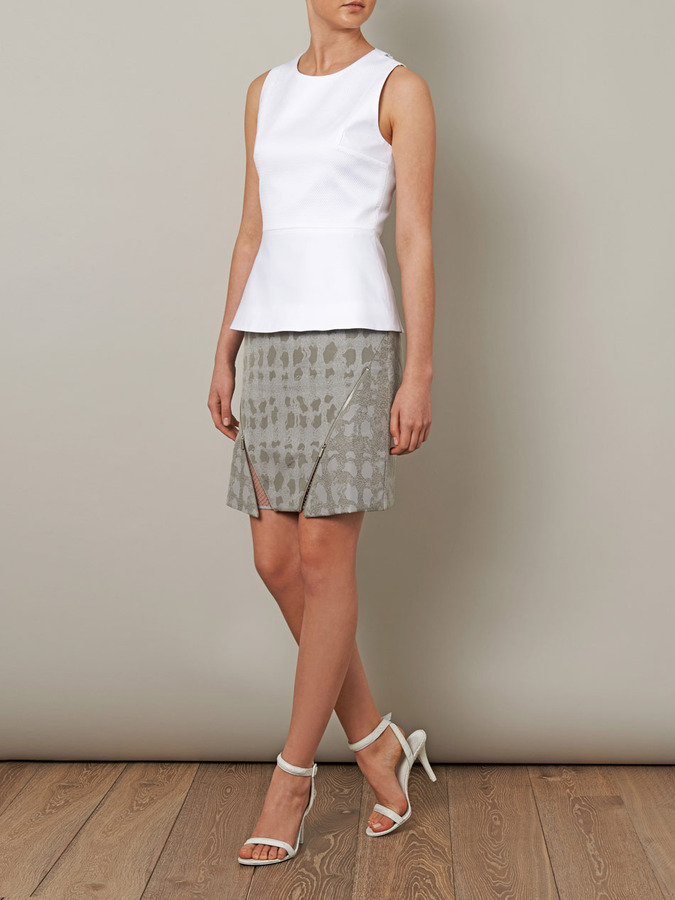 Richard Nicoll Mesh back fitted top