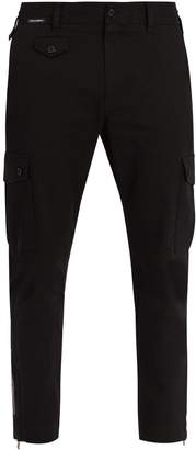 Dolce & Gabbana Logo-patch cropped stretch-cotton trousers