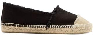 Castaner Kampala Cotton Canvas Espadrilles - Womens - Black