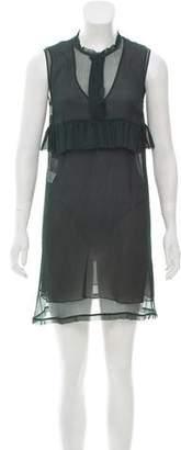 Marni Ruffle-Accented Silk Dress