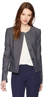 Calvin Klein Women's Peplum Jacket with Front Pockets