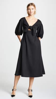Edit Tie Front A-Line Dress