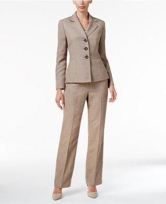 Le Suit Three-Button Pantsuit $200 thestylecure.com