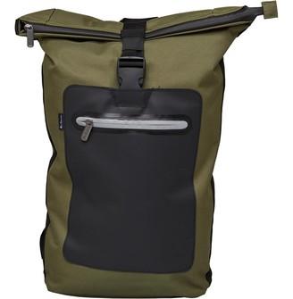 Ben Sherman Panel Roll Top Backpack Khaki Black 8443eab423f91