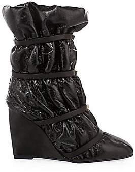 Stuart Weitzman Women's Duvet Studded Leather Wedge Boots