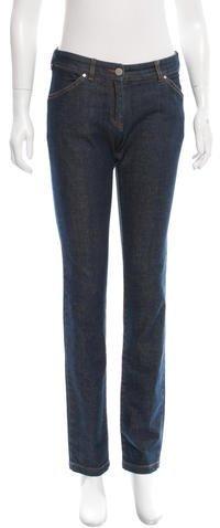 Balenciaga Balenciaga Mid-Rise Straight-Leg Jeans