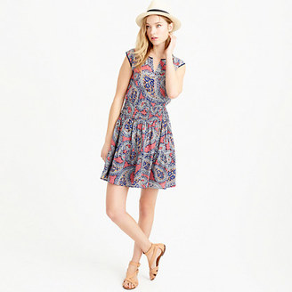 Silk smocked-waist dress in paisley $168 thestylecure.com
