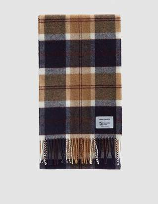 Norse Projects Norse X Johnstons Check Scarf in Black Watch Scarf
