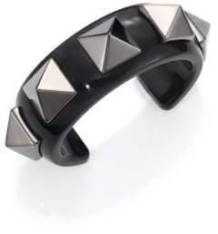 Valentino Studded Acrylic Cuff Bracelet