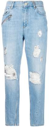 Versace distressed boyfriend jeans